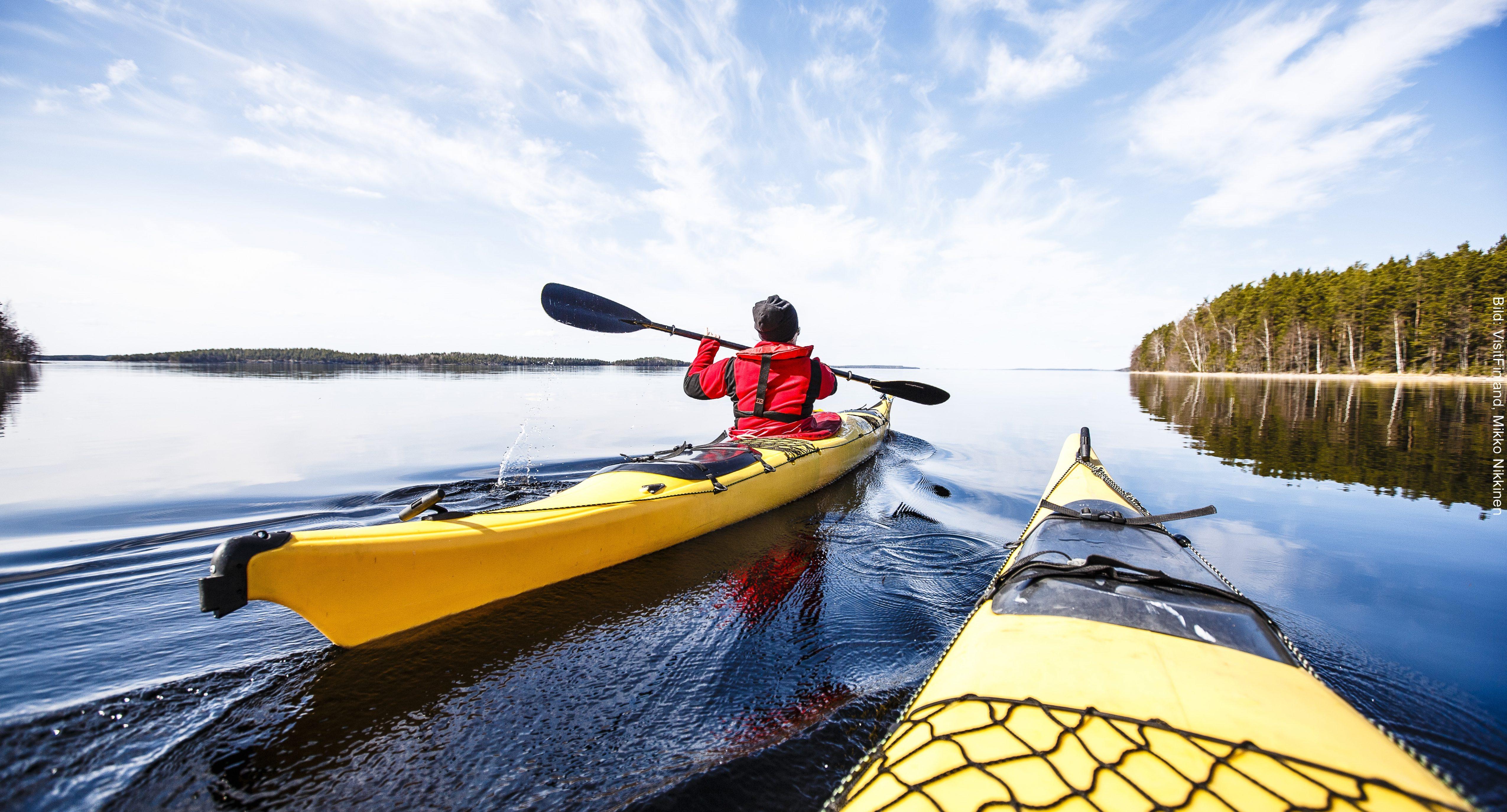 Fähre Finnland Kayaking