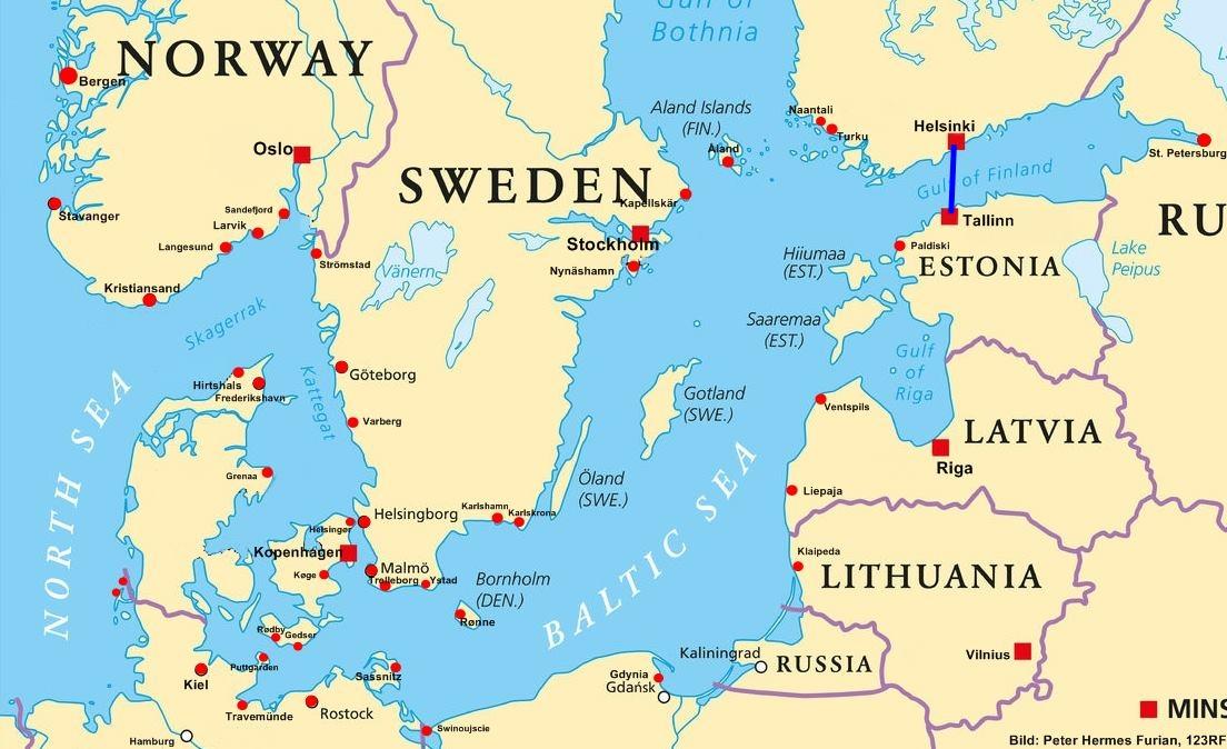 Fähre Tallinn-Helsinki Tallink Route