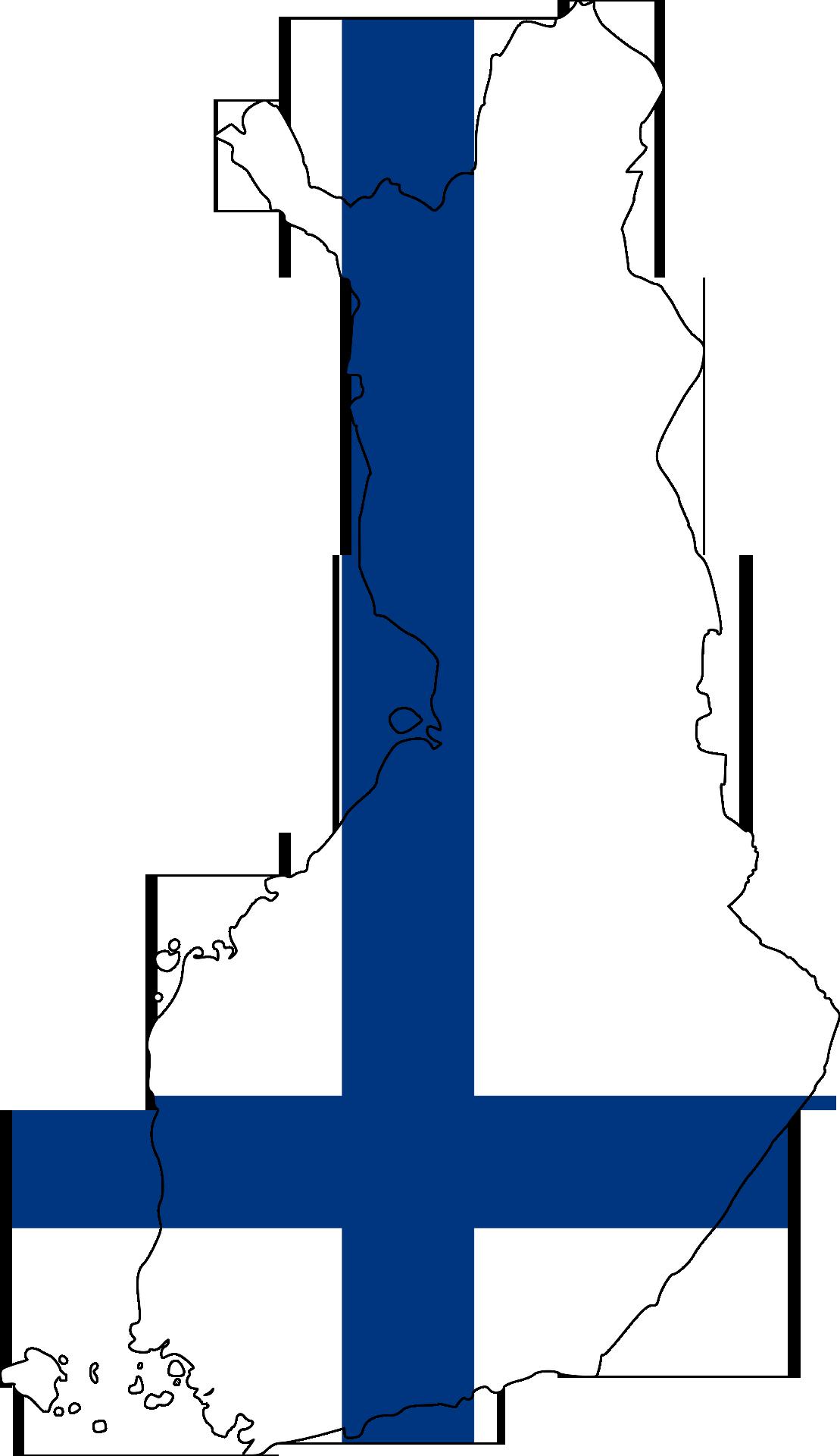 Finnland Karte Flagge